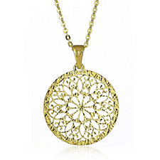 Veronese Classic 18ct Gold Plated 45cm Necklace Sterling Silver