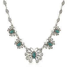 Ottoman Butterfly 50cm Necklace Steling Silver