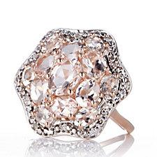 626371 - 3.3ct Morganite & Diamond Cluster Ring 9ct Rose Gold