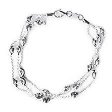 664572 - Links of London Essentials 3 Row 17.5cm Bracelet Sterling Silver