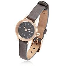 Skagen Ladies Hagen Leather Strap Watch