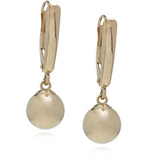 9ct Gold Highly Polished Ball Drop Earrings