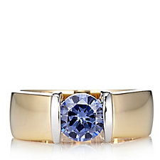 Diamonique 2ct tw Simulated Tanzanite Ring Sterling Silver