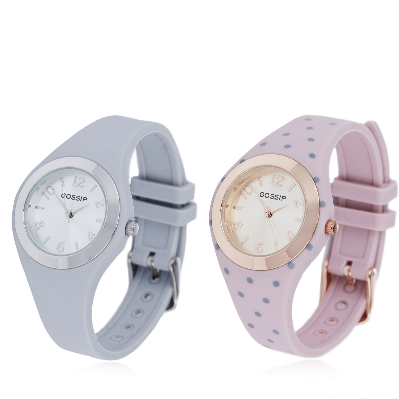 watches jewellery qvc uk gossip set of 2 silicone strap watches 692673