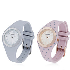 Gossip Set of 2 Silicone Strap Watches