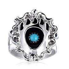 Nizhoni Sleeping Beauty Bear Paw Ring Sterling Silver