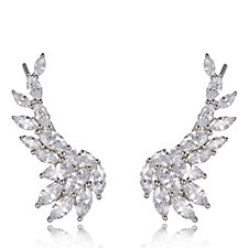 Michelle Mone for Diamonique 5.8ct tw Marquise Ear Climbers Sterling Silver