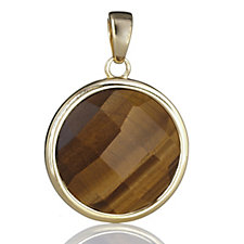 Veronese Tigers Eye Pendant Sterling Silver