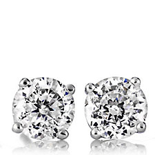 Diamonique 1ct tw Fine Stud Earrings Sterling Silver