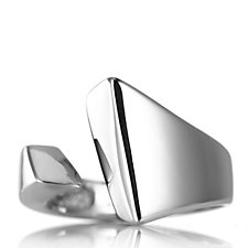 Bianca Platinum Plated Nearly There Ring Sterling Silver
