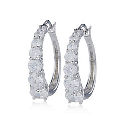 Michelle Mone for Diamonique 2.8ct tw Hoop Earrings Sterling Silver
