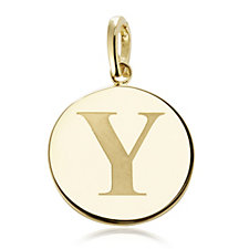 K by Kelly Hoppen 45mm Initial Charm 18ct Gold Plated Bronze