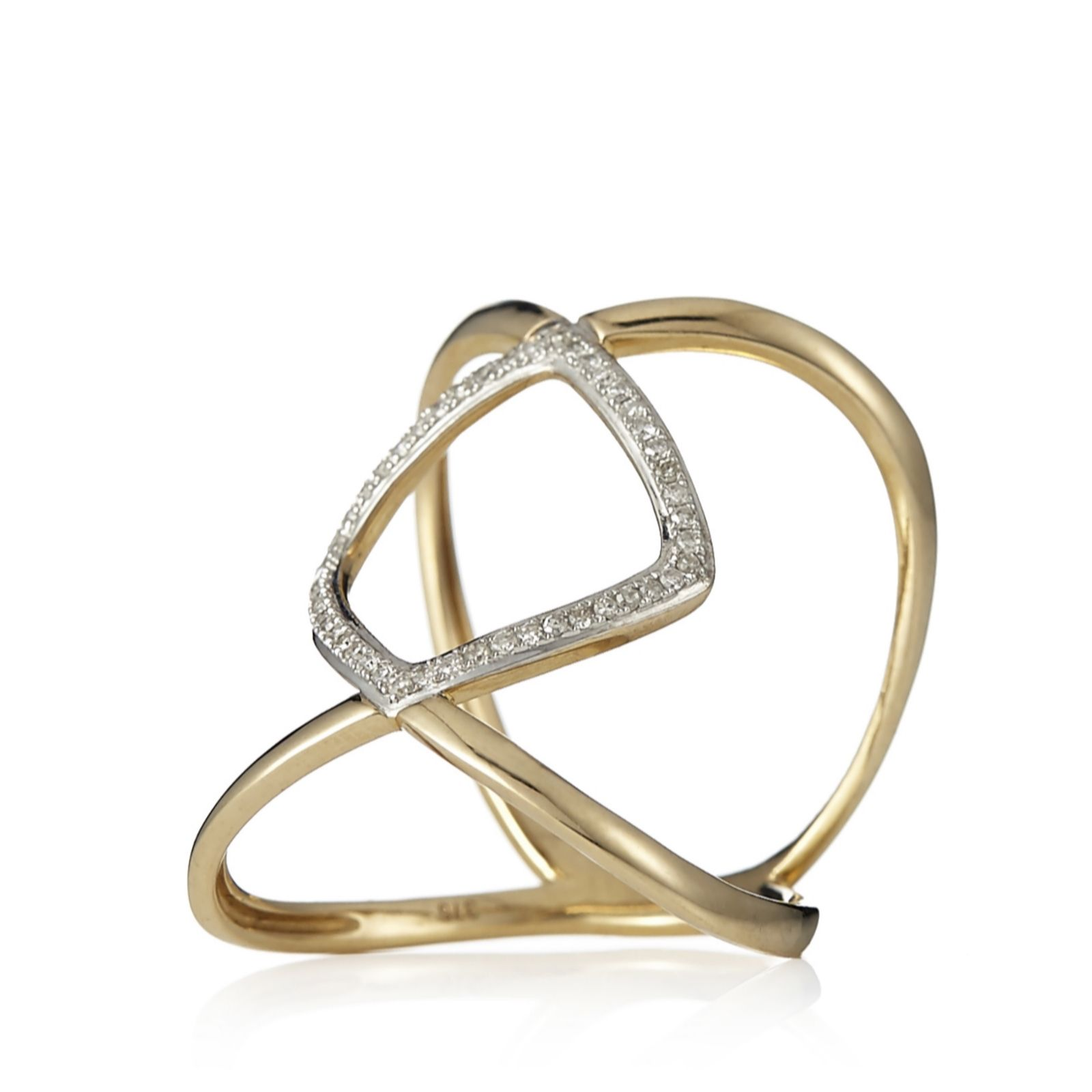 Lisa Snowdon Continental Diamond Ring Gold Vermeil Sterling Silver