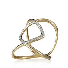 Lisa Snowdon Continental Diamond Ring Gold Vermeil Sterling Silver