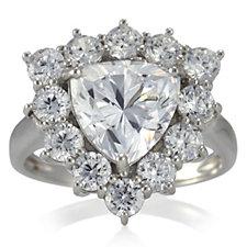 Michelle Mone for Diamonique 4.1ct tw Triangle Ring Sterling Silver