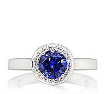 Epiphany Platinum Clad Diamonique 1.78ct tw Solitaire Ring Sterling Silver - 609579
