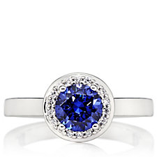 Epiphany Platinum Clad Diamonique 1.78ct tw Solitaire Ring Sterling Silver