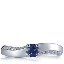 Diamonique 0.5ct tw Swirl Ring Sterling Silver