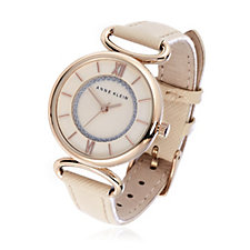 Anne Klein Ladies The Lady Leather Strap Watch