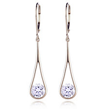 Diamonique 2ct tw Fluid Drop Earrings 9ct Gold