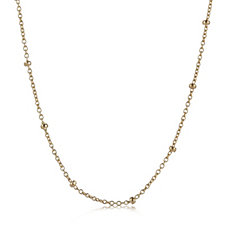 9ct Gold Ball Station 45cm Necklace