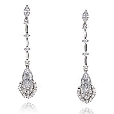 664680 - Michelle Mone for Diamonique 3ct tw Marquise Cut Drop Earrings Sterling Silver