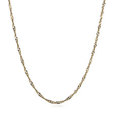 Gold Gallery 9ct Gold 50 Gauge 45cm Twisted Curb Chain
