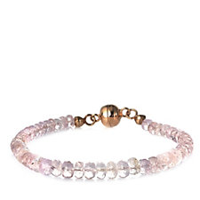 645982 - 40ct Morganite 19cm Bracelet w/Magnetic Clasp Rose Gold Vermeil Sterling Silver