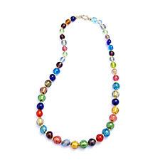 Murano Glass Multi Coloured Graduated Bead Necklace