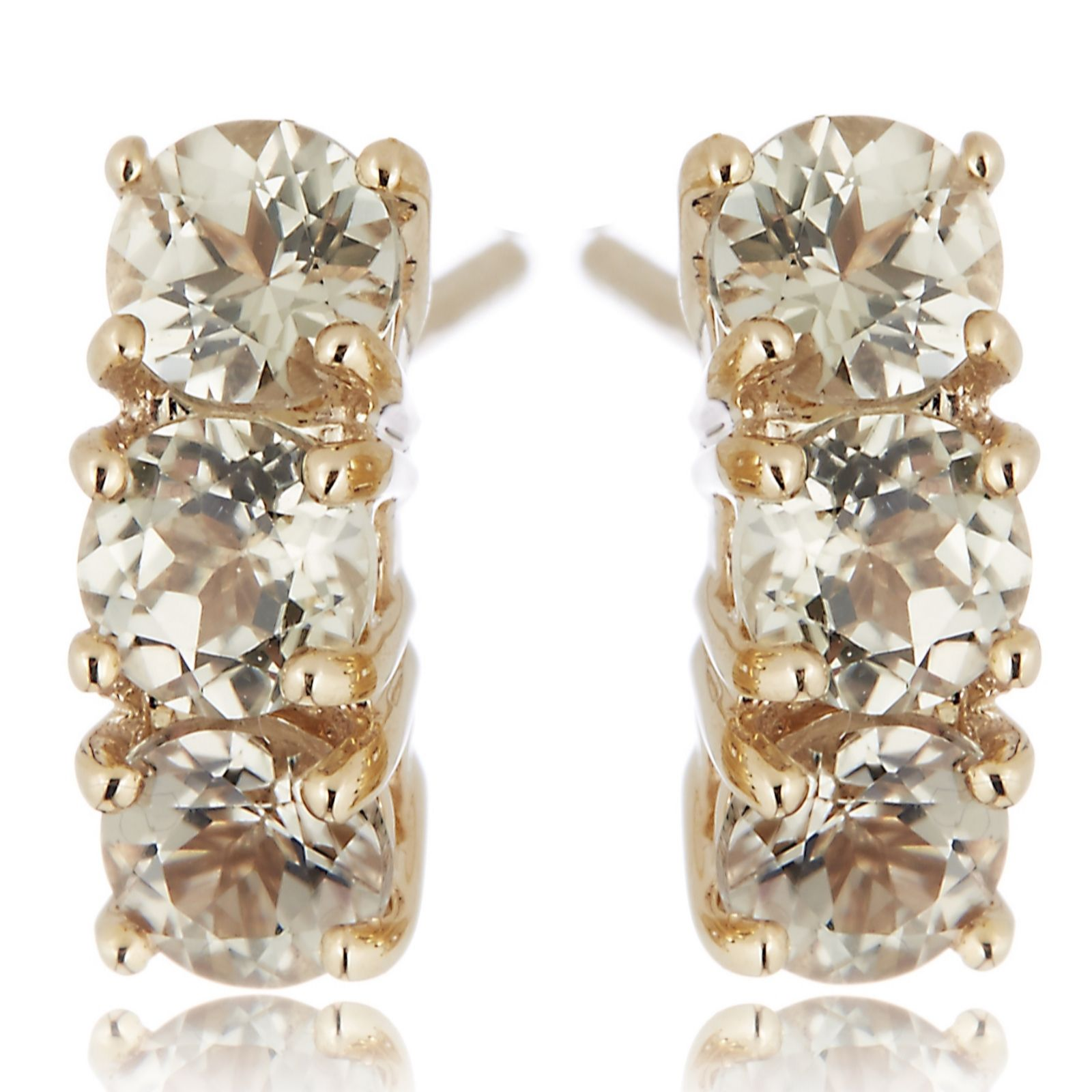 1.5ct Zultanite Trilogy Stud Earrings 9ct Gold