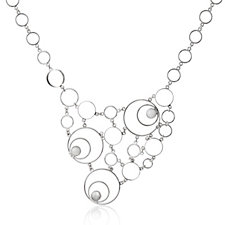 Taxco Traditions Spiral Statement 44cm Necklace Sterling Silver
