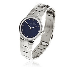 Skagen Ladies Blue Dial Steel Strap Watch