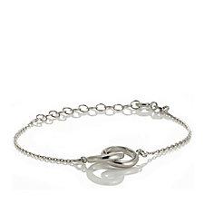 Epiphany Platinum Clad Infinity Bracelet Sterling Silver
