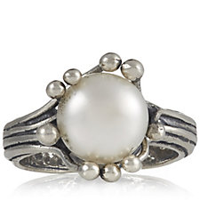 Or Paz Cultured Pearl Crown Ring Sterling Silver