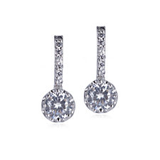 Diamonique 1.5ct tw Drop Earrings Sterling Silver