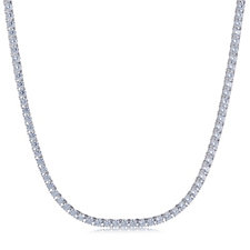 Diamonique by Tova 30.9ct tw Tennis Necklace Sterling Silver