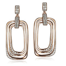 0.3ct Diamond Drop Earrings 9ct Rose Gold