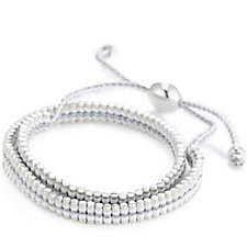 Links of London Double Wrap Friendship Bracelet Sterling Silver