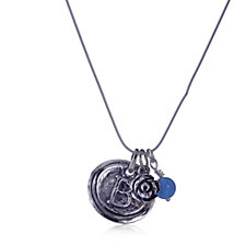 Or Paz Initial Charm 46cm Necklace Sterling Silver