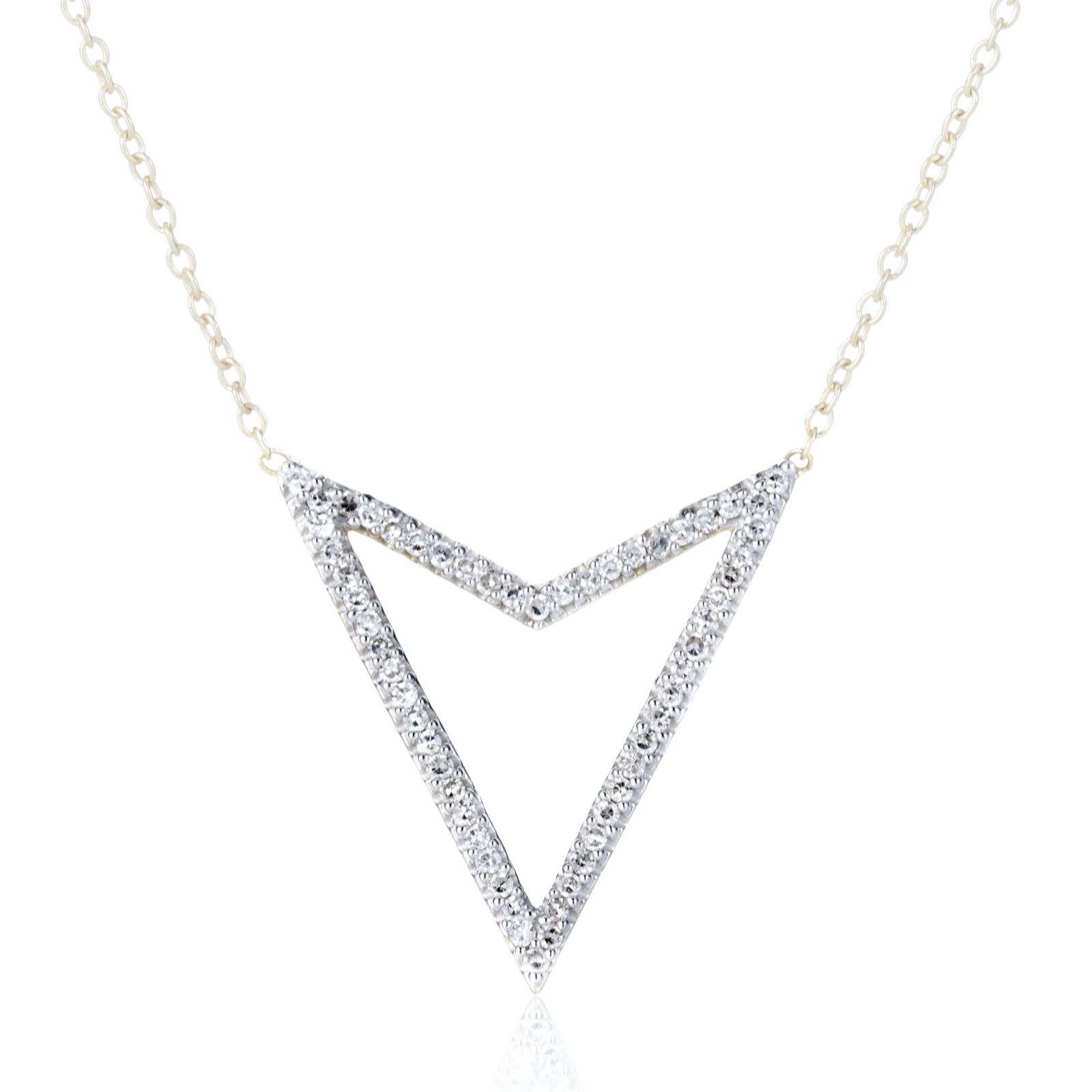 0.2ct Diamond Arrow Drop 45cm Necklace 9ct Gold