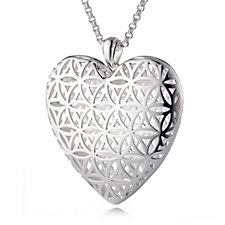 Links of London Maze Heart Pendant & 80cm Chain Sterling Silver