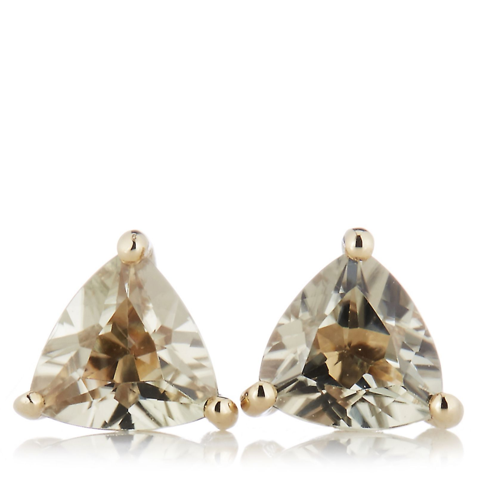 0.8ct Zultanite Trilliant Stud Earrings 9ct Gold