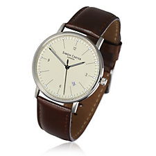 Simon Carter Men's Leather Strap Watch