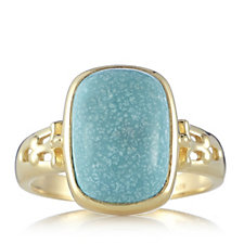 American Turquoise Cabochon Cocktail Ring Sterling Silver