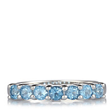 663888 - 0.50ct Gemstone Classic Eternity Ring Sterling Silver