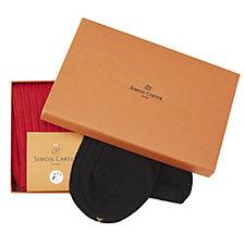 Simon Carter Pack of 2 Pairs Men's Socks Gift Set