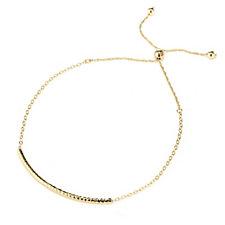 The Gold Room 9ct Gold Diamond Cut Bar Friendship Bracelet