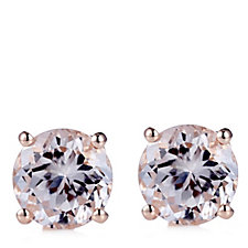 664889 - 3ct Morganite Stud Earrings Rose Gold