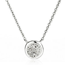 629090 - Links of London Pave Diamond Essential Pendant & Chain Sterling Silver