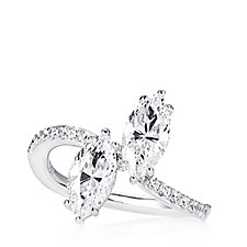 698790 - Michelle Mone for Diamonique 2.1ct tw Marquise Cut Ring Sterling Silver